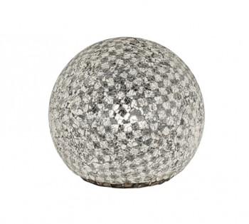 Szklana lampa stołowa z kloszem w kształcie kuli Mosaique