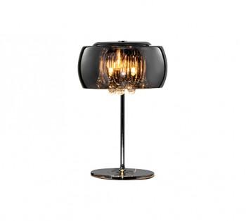 Szklana lampa stołowa w stylu glamour Vapore