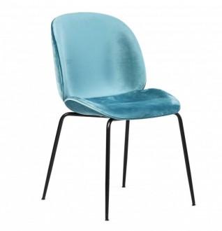 Krzesło welurowe bez podłokietników Boliwia
