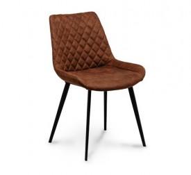 Tapicerowane krzesło z pikowanym oparciem Palermo 2