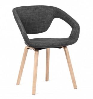 Skandynawskie krzesło na drewnianych nogach Porto