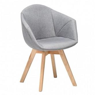 Krzesło tapicerowane na dębowych nogach Lizbona