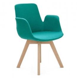 Krzesło tapicerowane wełną kaszmirową Calandra