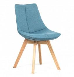 Tapicerowane krzesło na dębowych nogach Ontario