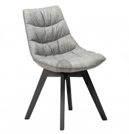 Krzesło z miękkim siedziskiem Marbella na czarnych nogach