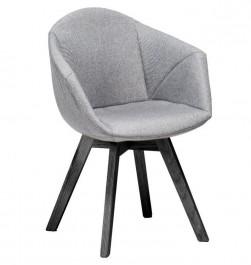 Krzesło tapicerowane na czarnych nogach Lizbona