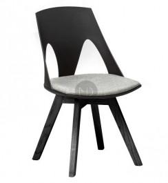Krzesło z tworzywa na czarnych nogach Cordoba