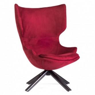 Obrotowy fotel wypoczynkowy z aksamitu Pekin