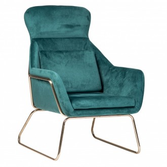 Fotel wypoczynkowy z weluru Faro