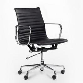 Krzesło obrotowe ze skóry naturalnej Alaska