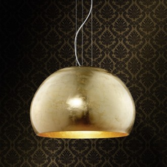 Szeroka lampa wisząca w kształcie misy Ontario