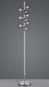 Designerska lampa stojąca z wieloma kulistymi kloszami Alicia
