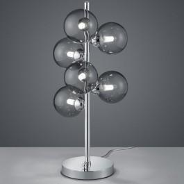 Designerska lampa stołowa z sześcioma kulistymi kloszami Alicia