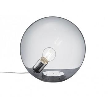 Kulista lampa stołowa z przydymionego szkła Midas