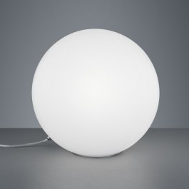 Kulista lampa stołowa z białego szkła Midas