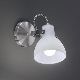 Dekoracyjny kinkiet ścienny z białym reflektorem Ginelli