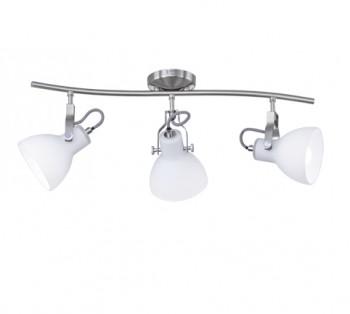 Trzyczęściowa lampa sufitowa z białymi reflektorami Ginelli
