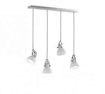 Szeroka lampa do jadalni z czterema reflektorami Ginelli