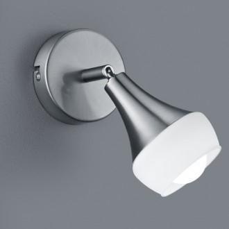 Lampka ścienna ze szklanym reflektorem Trumpet nikiel mat/biały