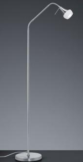 Stojąca lampa regulowana na jednej nodze Trumpet nikiel mat/biały