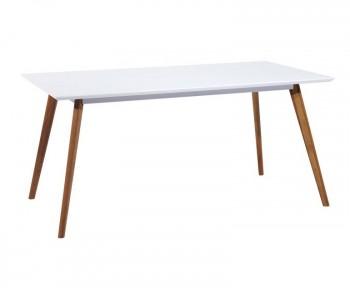 Biały stół na drewnianych nogach Milan 140