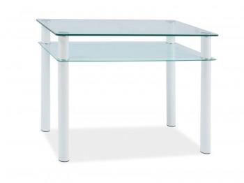 Szklany stół Sono z półką 100
