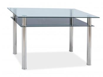 Szklany stół Madras z półką 120