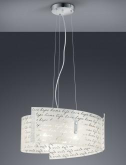 Szklana lampa wisząca z nadrukiem Signa