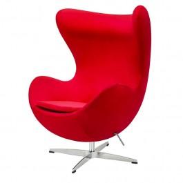 Designerski fotel obrotowy i bujany Egg Classic Velvet