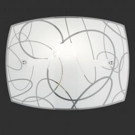 Szklany kinkiet ścienny z geometrycznym motywem Spirelli