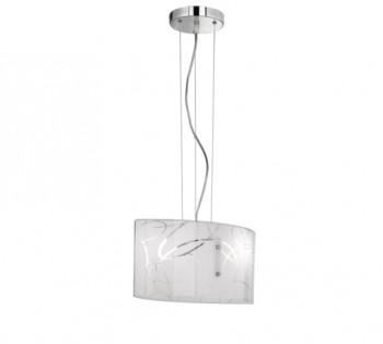 Wisząca lampa ze szklanym kloszem z nadrukiem Spirelli