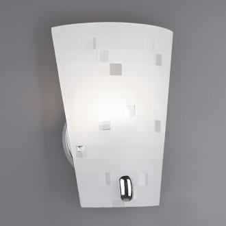 Szklany kinkiet ścienny w kolorze białym Colina