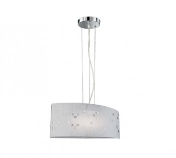 Lampa wisząca ze szklanym kloszem białym Colina