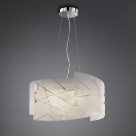 Wieloczęściowa lampa wisząca ze szklanym kloszem Sandrina