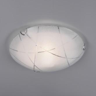 Okrągły plafon sufitowy z białego szkła Sandrina 30