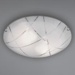 Okrągły plafon sufitowy z białego szkła Sandrina 40