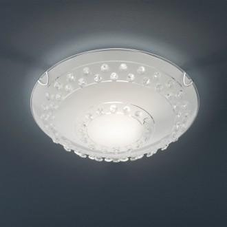 Klasyczny plafon szklany w kolorze białym Christobal 30