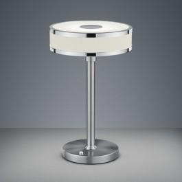 Prosta lampa stołowa ze ściemniaczem Agento nikiel mat