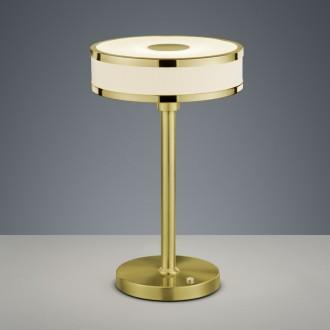 Prosta lampa stołowa ze ściemniaczem Agento mosiądz mat