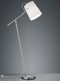 Regulowana lampa podłogowa z tkaninowym kloszem Meran