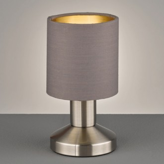 Lampa stołowa z dotykowym włącznikiem Garda ciemnoszara