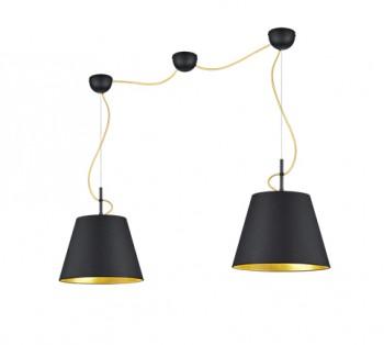 Podwójna lampa wisząca z metalu Andreus