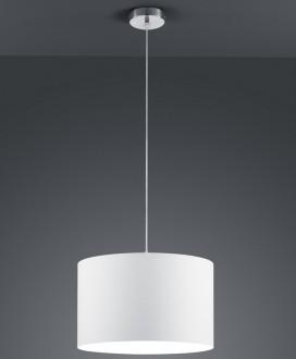 Klasyczna lampa wisząca z białym abażurem Hotel