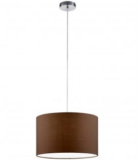 Lampa wisząca z brązowym abażurem w stylu klasycznym Hotel