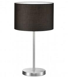 Wysoka lampa stołowa z czarnym abażurem Hotel