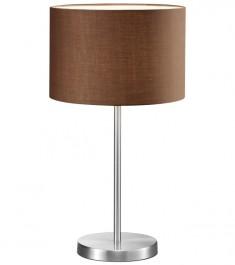 Wysoka lampa stołowa z brązowym abażurem Hotel