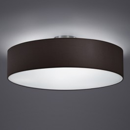 Sufitowa lampa z czarnym abażurem tkaninowym Hotel 50