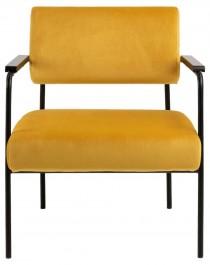 Fotel tapicerowany tkaniną welurową Cloe Vic