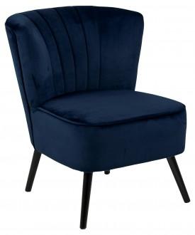 Welurowy fotel z miękkim siedziskiem Lark Vic