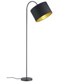 Łukowa lampa stojąca z giętym wysięgnikiem Hostel
